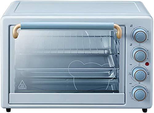 35L Mini horno, hornear para hornear el horno eléctrico pequeño con iluminación incorporada, control de temperatura independiente hacia arriba y hacia abajo para el horno tostador de la encimera