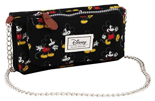 Disney Classic Mickey Moving Portamonete, 20 cm, Nero (Negro)