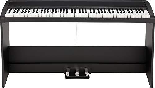 KORG B2SP Digitalpiano, Keyboard, E-Piano (mit Ständer, Notenpult, 3er Pedaleinheit und Lernsoftware zum Üben), USB Midi/Audio-Anschlüsse, schwarz