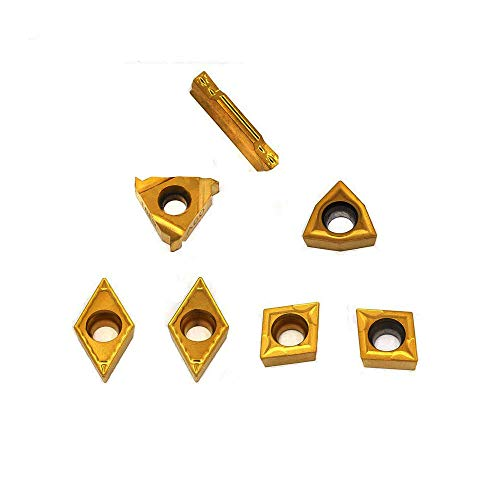"""OSCARBIDE Carbide Turning Inserts MGMN300,16ER A60,WCMT06T304,CCMT09T304,DCMT11T304 CNC Lathe Insert for 5/8"""" or 3/4"""" Indexable Lathe Turning Tool Holder Insert Replacement, 7 Pieces"""