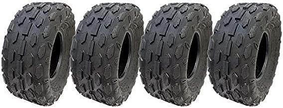 MMG Set of 4 All Terrain Reinforced Tubeless Tire 145/70-6 (145x70x6) P72 Diamond Tread ATV UTV Go Kart Buggy