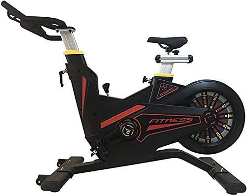 NBLD Bicicleta giratoria Bicicleta estática para Gimnasio en casa, Resistencia controlada magnéticamente, Bicicleta Fija para Interiores, Bicicleta giratoria con Asiento y asa Ajustables