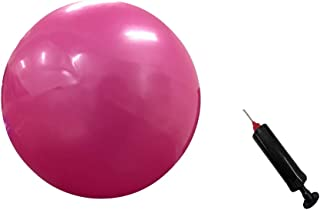 X&W Exercise Ball with Needle Pump, Pink