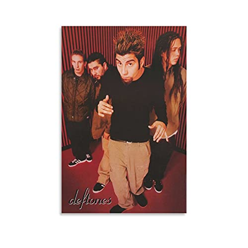 KEsore Music Deftones All 4 Posed Canvas Posters Painting Art Wall Posters Decorative Gift Pictures Home Wall Bedroom Live Room for Men and Women Teens16×24inch(40×60cm)