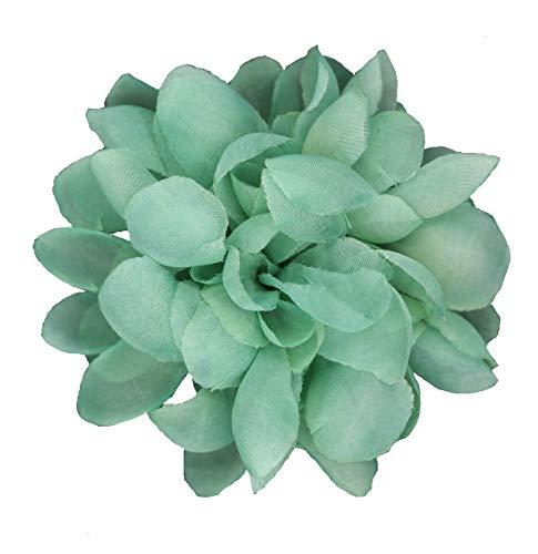 Flore de tela con broche 'Clara'-Para decoración (Verde agua)