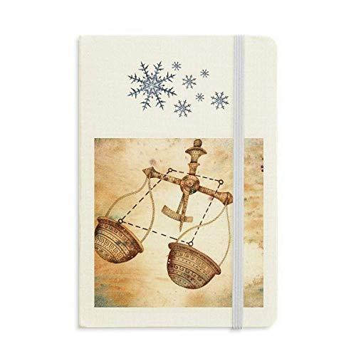 Settembre Ottobre Bilancia Costellazione Zodiaco Notebook Spesso Diario Fiocchi di Neve Inverno