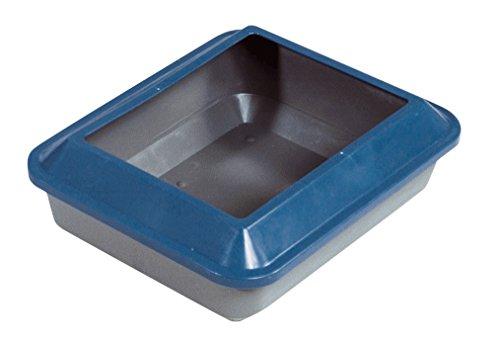 Catit 50923 Bac à litière pour chat avec rebord taille M (Bleu/gris)