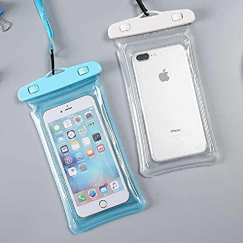 N\C 2 piezas de Ipx8 caja impermeable del teléfono móvil subacuático bolsa del teléfono móvil conveniente para Iphone 12 11 Pro Max Xr Xs X 8 7 Etc. 6.5 pulgadas