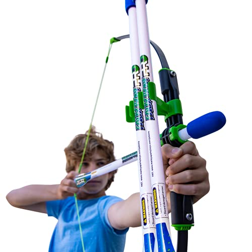 Marky Sparky Faux Bow Pro – Shoots Over 200 Feet – Bow and Patented Arrow Archery Set