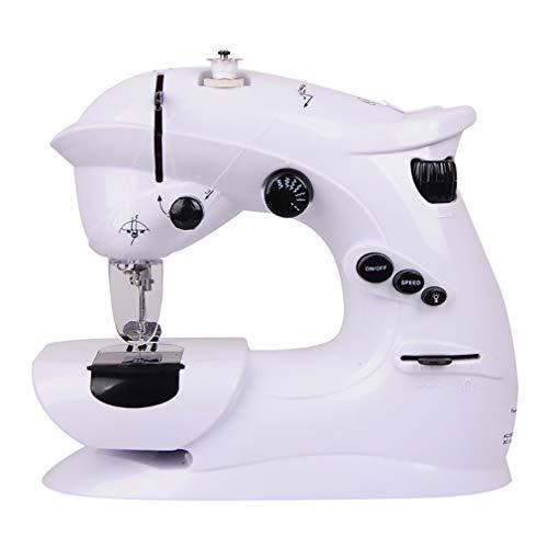 Wangxst Professionele draagbare naaimachine, automatische nietmachine voor creatief naaien, eenvoudig voor principes, wit