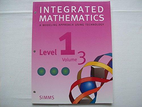 Integrated Mathematics (Level 1, Volume 3)