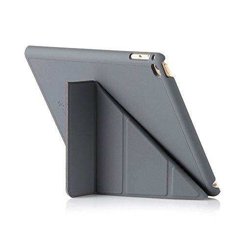Luxe Pipetto Origami - Funda para Apple iPad Air 2 (soporte de sobremesa), color gris oscuro