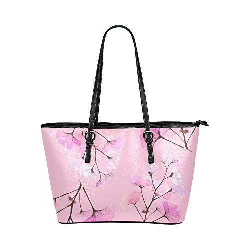 N\A Travelling Umhängetasche Naturgelb Herbst Pflanze Ginkgo Leder Hand Totes Tasche Kausale Handtaschen Reißverschluss Schulter Organizer Für Lady Girls Damen Tasche Handtasche