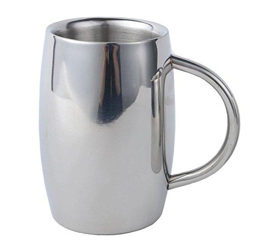 Isenretail Tazze da tè, Boccale da Birra termos in Acciaio Inossidabile, Tazza da tè/caffè/Latte/Acqua, Design a Doppia Parete con 400 ml di Alta capacità