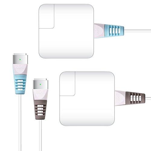 TUDIA KLIP Protector de Cable de Carga Organizador de Ahorro Funda Protectora de Cable de Alambre Compatible para MacBook (Azul & Gris)