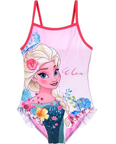 Frozen Badeanzug Die Eiskönigin Anna ELSA Disney (110, Rosa)
