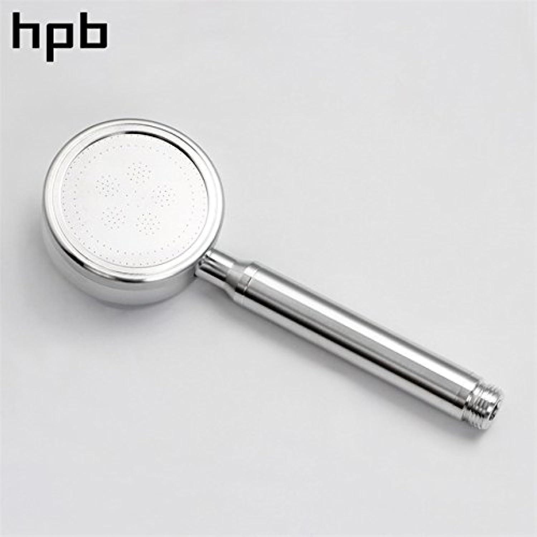 Shower head only   HPB Space Aluminum Round High Pressure HandHeld Shower Head Water Saving Bath Hand Shower Bathroom Accessories HP7118