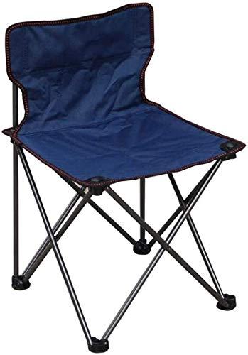 Outdoor folding chair Silla Tumbonas, sillones de Relax de jardín, sillas Plegables pequeños al Aire Libre for Acampar al Aire Libre Jardín Sala de Deporte Cena Beach Color: Amarillo 42 * 42 * 65cm