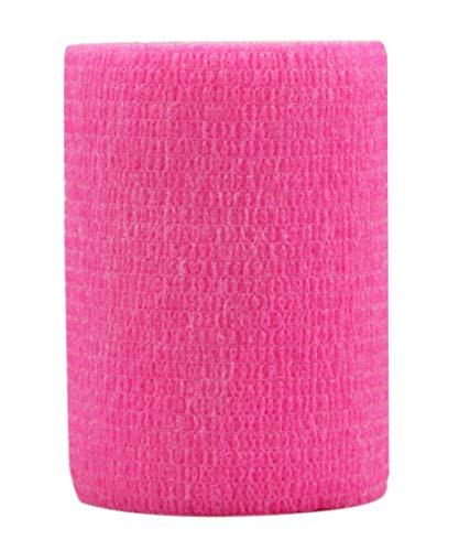 Risscly Rosa 7.5cm cohesive Bandage,selbsthaftende fixierbinde verband bandage mullbinden selbsthaftend bandagen 6 Rollen