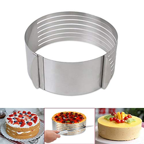 HMIN Layer Cake Cutter Cake Slicer, 6-8 Inch Adjustable Cake Leveler Cake Layer Slicer, 7 Layer Cake Slicer Cake Cutter Slicer