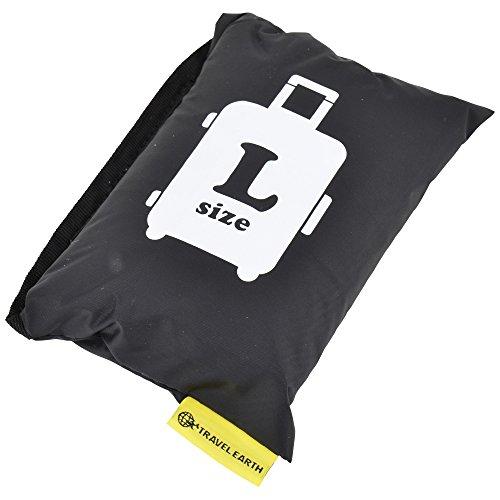 [トラベルアース] スーツケースカバーTE-055-L 18 cm 0.13kg TE-055-L ブラック