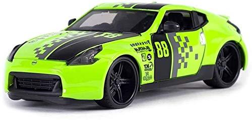 KJAEDL Modelo de Coches para niños Modelo de Coche Modelo de fundición a presión, 1: 24 370Z Roadster Verde Kit Modelo, Modelo de la colección de la aleación Adornos de Juguete de Regalo, 18x8x5CM
