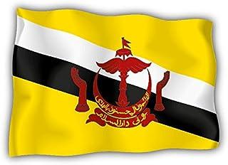 valstick Brunei Wave Flag Car Bumper Sticker Decal