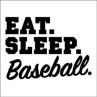 Eat Sleep Baseball Vinyl Decal Sticker   Cars Trucks Vans SUVs Walls Cups Laptops   5 Inch   Black   KCD2685B