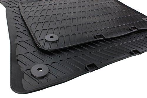 Audi tappetini in gomma di qualità originale, nero, 2 pezzi