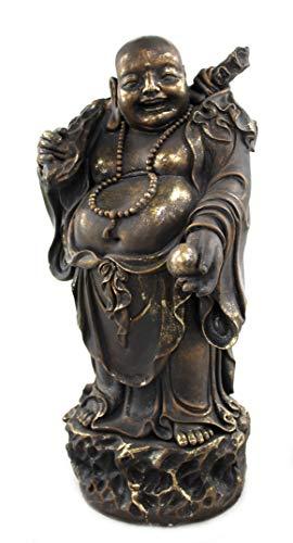 DARO DEKO Buddha Figur XXL stehend 47 x 100cm Gold
