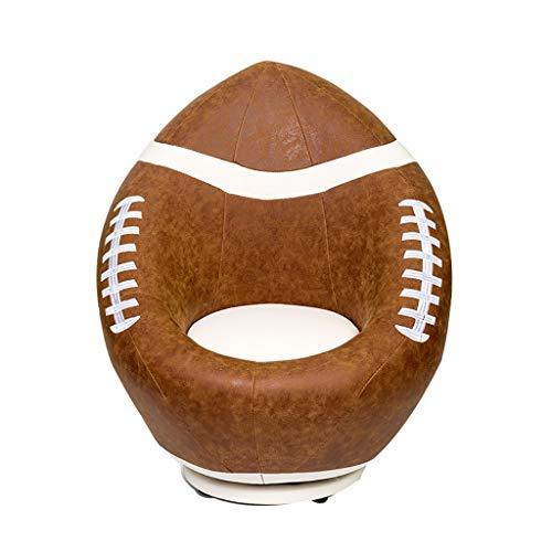 Persönlichkeit Kreativ Sessel, Amerikanisch Drehen Basketball Fußball Fußball Für 4-12 Jahre Alt Junge Mädchen (Color : Football)