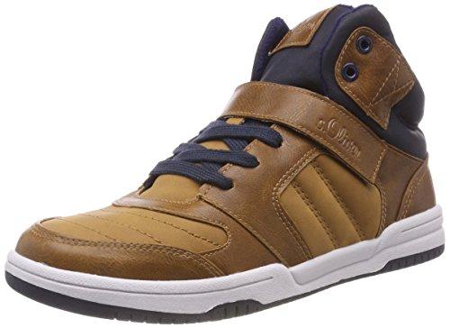 s.Oliver Jungen 45100-21 Hohe Sneaker, Braun (Cognac 305), 35 EU