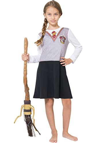 Harry Potter Big Girls' Hermoine Gryffindor Uniform Night Gown by Intimo, Gray, 10/12