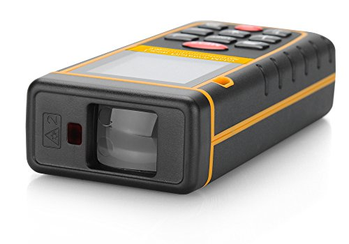 Entfernungsmesser Laser-0,05bis 60Meter Wasserwaage/Transporttasche/Handschlaufe/Halterung für Stativ 1/4Daumen