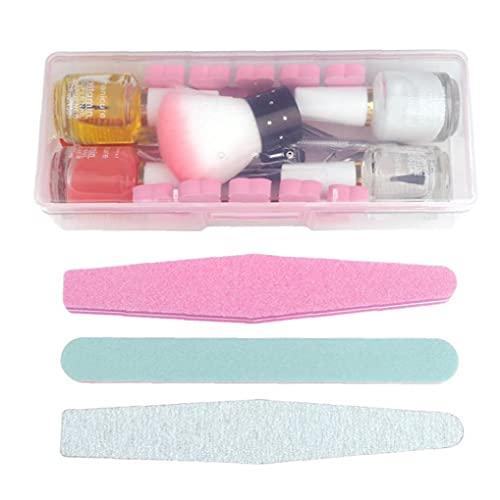 Budstfee Nails Cuidado Herramientas Manicura Set Kit de uñas Multifunción Nail Cutícula Pusher Gel Polish Set Acrylic Manicure Herramientas con Caja