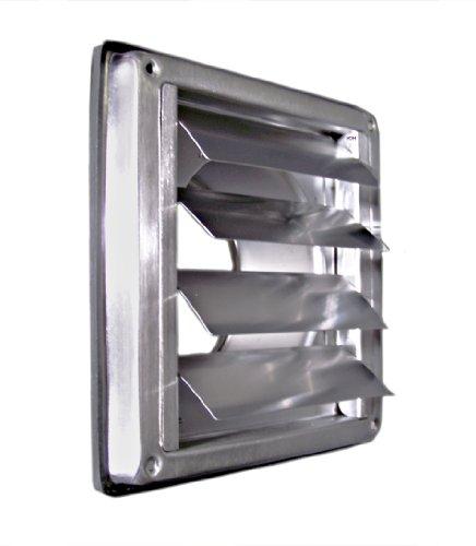 Edelstahl Überdruck Abluftgitter LG-5010 Inox DIN 100 Lamellen Lüftungsgitter