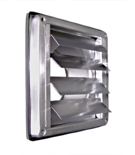 Edelstahl Überdruck Abluftgitter LG-5010 Inox DIN-100 Lamellen Lüftungsgitter