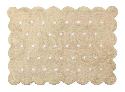 Aratextil. Tapis en 100% coton lavable en machine. Collection Cookie Beige