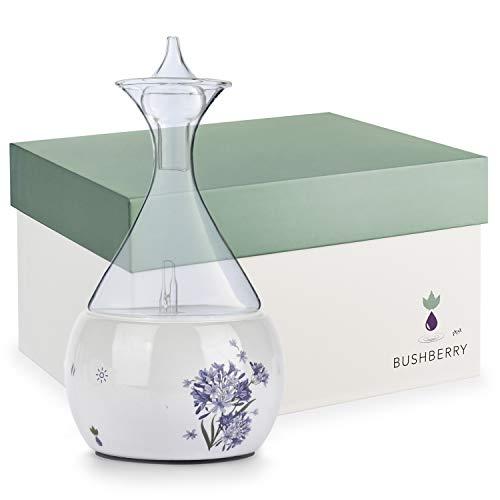 Diffusore di Oli Essenziali in Ceramica e Vetro per Aromaterapia – Diffusore di Aromi Senza Acqua – Vaporizzatore Ambiente Per Uso Domestico e Professionale - Senza Plastica, Sicuro ed Elegante