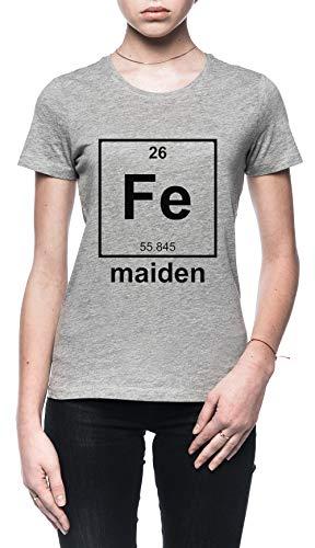 Rundi Iron Maiden Mujer Camiseta Gris Tamaño M - Women's T-Shirt Grey