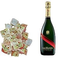 assortimento champagne mumm - gran cordon & 150g di nougadets al caramello - jonquier deux frères