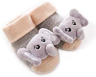 IAMZHL, Dibujos Animados recién Nacido bebé niño Piso Calcetines Antideslizantes algodón con Campana muñeca bebé niña niño Suave Lindo Piso de casa Zapatos-a5