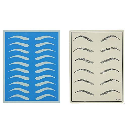 Pratique de tatouage - Fournitures de microblading Peau pratique de sourcil Formation de maquillage permanent Peau de silicone pour débutants et expérimentés (1Pc)