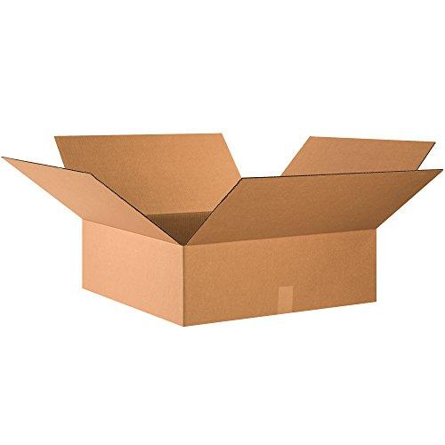 Boxes Fast BF24248 段ボール製 段ボール製 フラット出荷箱 24 x 24 x 8インチ 衣類 本 写真フレーム アートワーク 鏡 クラフト用 (10個入り) 1-(Pack) BF24248 10