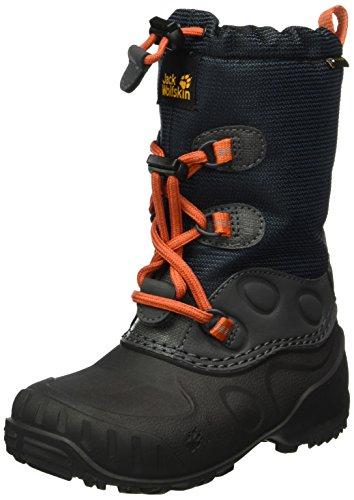 Jack Wolfskin Dziecięce buty zimowe Iceland Texapore High K, czarny - Czarny Dark Sky 1165-26 EU