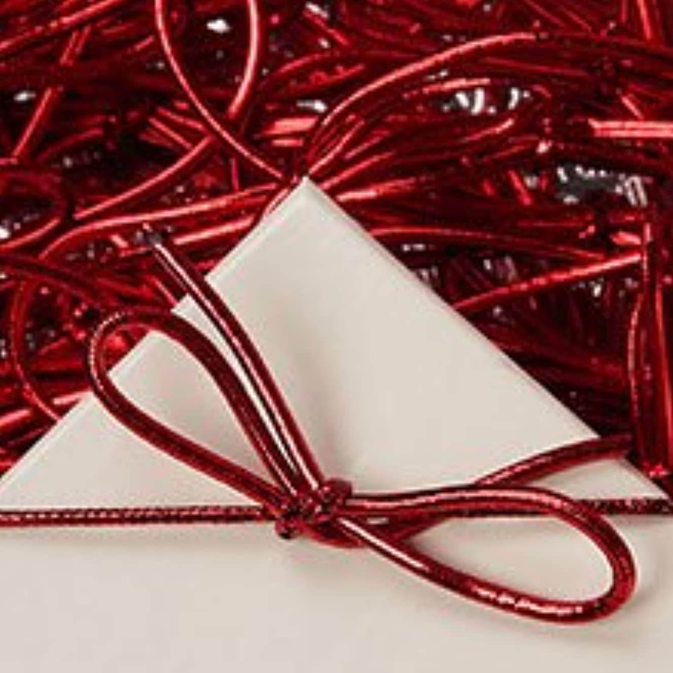 6 inch Red Stretch Loops Shiny Metallic Braided Elastic Cords Pack of 100