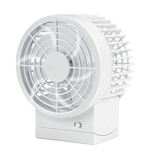Tafelventilator geruisloze USB-ventilator met verstelbare kop, dubbele ventilatorvleugel, 2 snelheden, mini-formaat desktopventilator voor outdoor-activiteiten op kantoor
