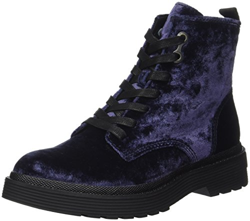 Calvin Klein Damen Annie Velvet Combat Boots, Blau (Blue), 39 EU