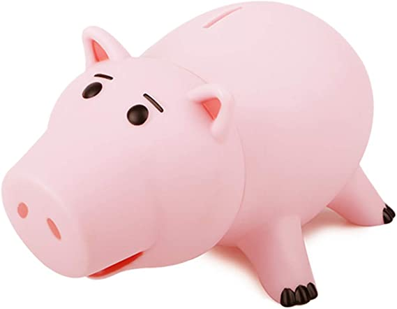 HairPhocas Cute Pink Pig Money Box Plastic Piggy Bank for Kid's Birthday Gift with Box