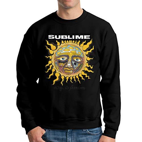 Droiramie Men's Graphic Design Sublime 40oz to Freedom Crew Neck Hoodie XXL Black